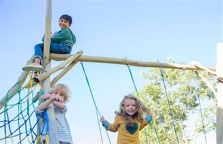 filipino ethnicity - Children playing on play structure Stock Photo - Premium Royalty-Free, Code: 6113-07731259