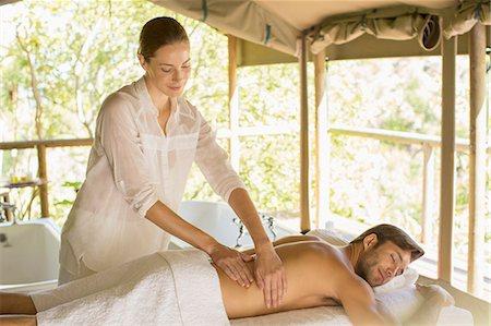 Man having massage in spa Stock Photo - Premium Royalty-Free, Code: 6113-07731548