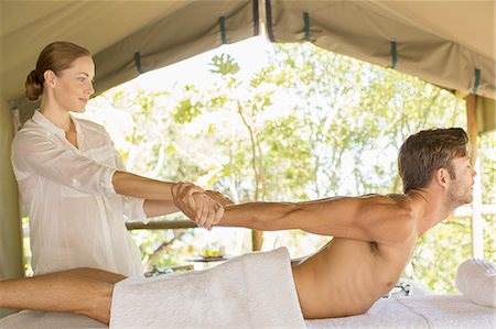 Man having massage in spa Stock Photo - Premium Royalty-Free, Code: 6113-07731565