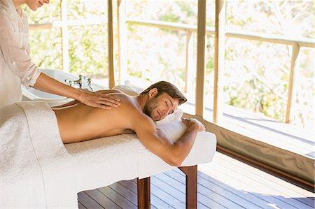 Man having massage in spa Stock Photo - Premium Royalty-Free, Code: 6113-07731570
