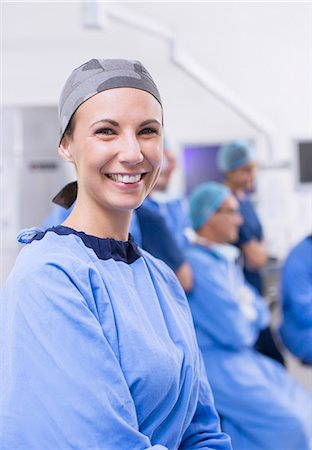 female doctor - Portrait of female surgeon in operating theater Stock Photo - Premium Royalty-Free, Code: 6113-07905870