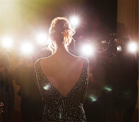Celebrity facing paparazzi photographers at event Stock Photo - Premium Royalty-Free, Code: 6113-08088183