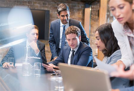 Business people in conference room meeting Stock Photo - Premium Royalty-Free, Code: 6113-08184264