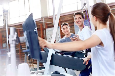 rehabilitation - Physical therapists with man on treadmill Stock Photo - Premium Royalty-Free, Code: 6113-08521464