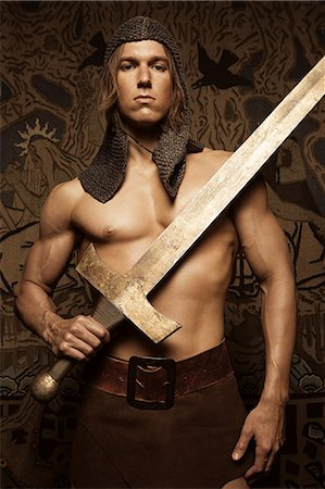 Siegfried with sword Stock Photo - Premium Royalty-Free, Code: 6114-06591401