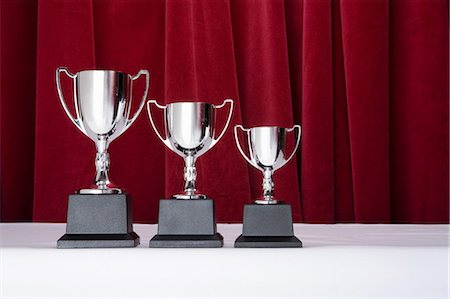 Three silver trophies Stock Photo - Premium Royalty-Free, Code: 6114-06591865