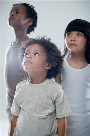 Children looking up Stock Photo - Premium Royalty-Free, Code: 6114-06592543
