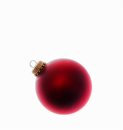 Red bauble Stock Photo - Premium Royalty-Free, Code: 6114-06596756
