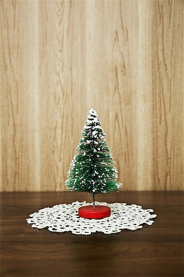 Miniature christmas tree Stock Photo - Premium Royalty-Free, Image code: 6114-06596707
