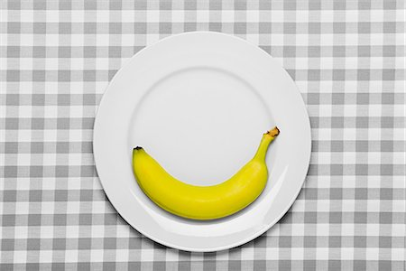 silhouette black and white - Banana on a plate Stock Photo - Premium Royalty-Free, Code: 6114-06596875