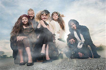 Children dressed in costumes Stock Photo - Premium Royalty-Free, Code: 6114-06597123