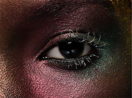 shimmering - Female eye covered in metallic make up Stock Photo - Premium Royalty-Free, Code: 6114-06598373