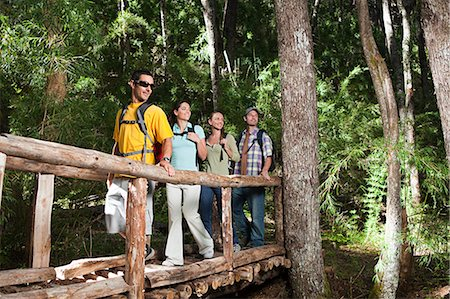 south american woman - Hikers in a forest Stock Photo - Premium Royalty-Free, Code: 6114-06598563