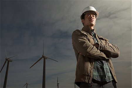 Engineer at a wind farm Stock Photo - Premium Royalty-Free, Code: 6114-06599158