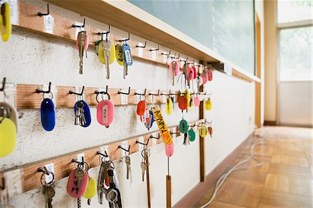 Keys hanging on a hook Stock Photo - Premium Royalty-Free, Code: 6114-06647629