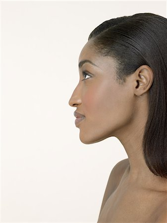 Profile of a woman Stock Photo - Premium Royalty-Free, Code: 6114-06655331
