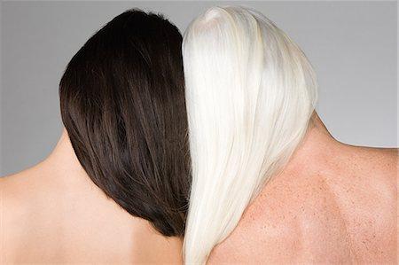Women with dark and light hair Stock Photo - Premium Royalty-Free, Code: 6114-06660348
