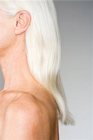 Woman with white hair Stock Photo - Premium Royalty-Free, Code: 6114-06660311