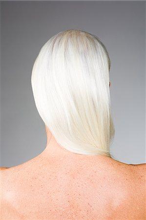 Woman with white hair Stock Photo - Premium Royalty-Free, Code: 6114-06660331