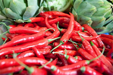 spicy - Red chillies Stock Photo - Premium Royalty-Free, Code: 6114-06600734