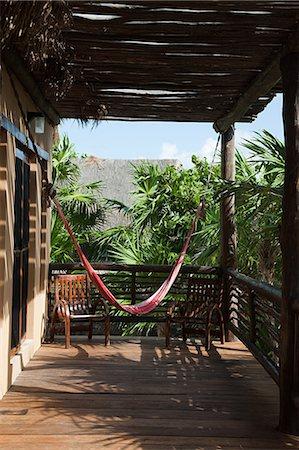 Beach hut in Quintana Roo, Caribbean Stock Photo - Premium Royalty-Free, Code: 6114-06601252