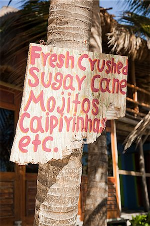 Beach hut cafe with sign in Quintana Roo, Caribbean Stock Photo - Premium Royalty-Free, Code: 6114-06601267