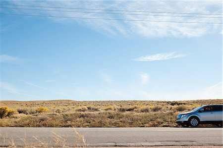 remote car - Car on desert road Stock Photo - Premium Royalty-Free, Code: 6114-06601600
