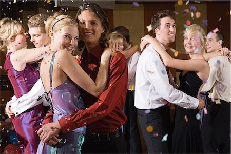 Teenagers slow dancing Stock Photo - Premium Royalty-Free, Code: 6114-06604735