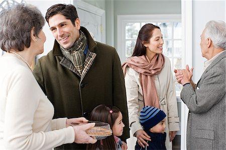 Family talking Stock Photo - Premium Royalty-Free, Code: 6114-06606387