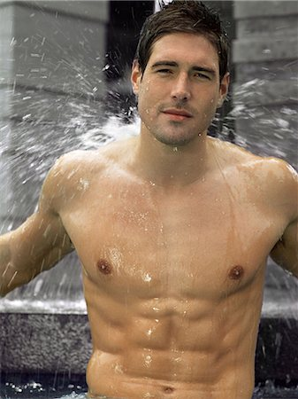 Man showering Stock Photo - Premium Royalty-Free, Code: 6114-06608236