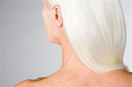 Woman with white hair Stock Photo - Premium Royalty-Free, Code: 6114-06609419