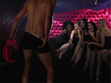 Women watching strip tease Stock Photo - Premium Royalty-Free, Code: 6114-06613392
