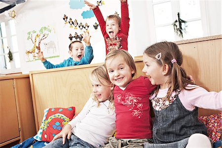 playing - Children In Nursery School, Kottgeisering, Bavaria, Germany, Europe Stock Photo - Premium Royalty-Free, Code: 6115-06778736