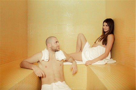 Couple Relaxing In Spa, Osijek, Croatia, Europe Stock Photo - Premium Royalty-Free, Code: 6115-06779086