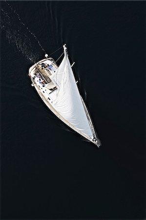 sailboat  ocean - Croatia, Sailboat on the move, aerial view Stock Photo - Premium Royalty-Free, Code: 6115-06732861