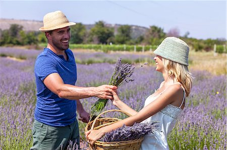 Young Couple in Lavender Field, Croatia, Dalmatia, Europe Stock Photo - Premium Royalty-Free, Code: 6115-06733004