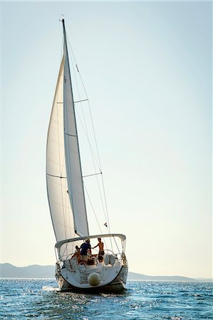 sailboat  ocean - Croatia, Sailboat in the Adriatic Sea Stock Photo - Premium Royalty-Free, Code: 6115-06733123