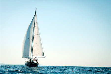 sailboat  ocean - Sailboat on the move, Adriatic Sea, Croatia Stock Photo - Premium Royalty-Free, Code: 6115-07539677