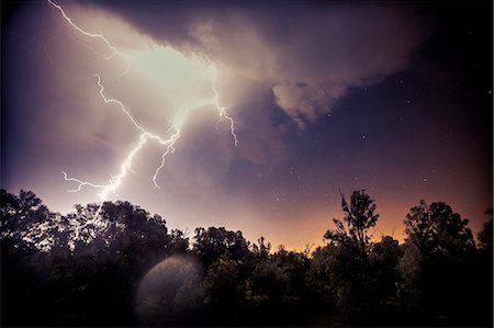 Lightning Strike, Baranja, Croatia Stock Photo - Premium Royalty-Free, Code: 6115-08066657