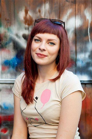 Portrait of redheaded woman Stock Photo - Premium Royalty-Free, Image code: 6115-08101036