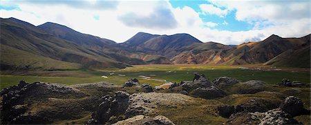 extreme terrain - Mountain scenery, Landmannalaugar, Iceland Stock Photo - Premium Royalty-Free, Code: 6115-08101291