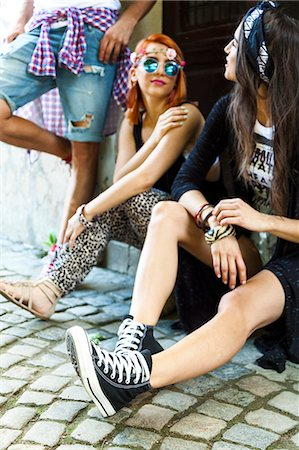Young people in hippie style fashion Stock Photo - Premium Royalty-Free, Code: 6115-08239889