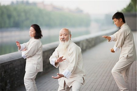 Chinese Practicing Tai Ji Stock Photo - Premium Royalty-Free, Code: 6116-07085822