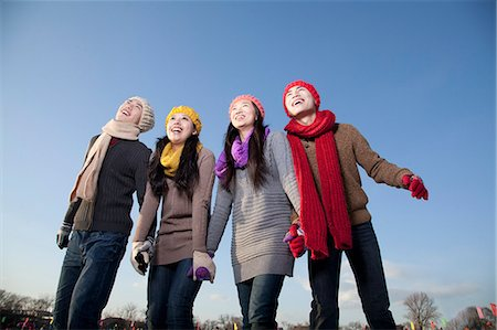 Friends on ice rink Stock Photo - Premium Royalty-Free, Code: 6116-07086583
