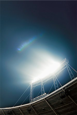View of stadium lights at night Stock Photo - Premium Royalty-Free, Code: 6116-08540012