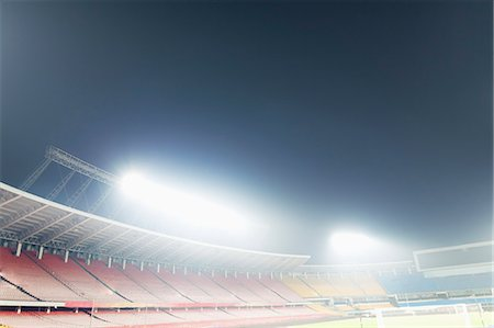 View of stadium lights at night Stock Photo - Premium Royalty-Free, Code: 6116-08540014