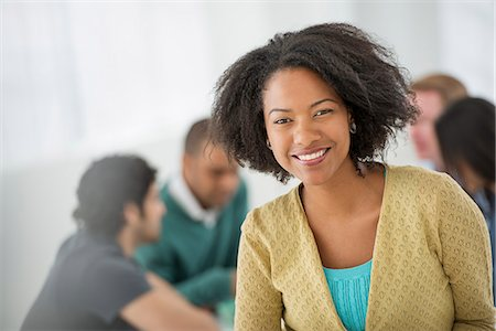 Business Meeting. A Confident Businesswoman. Leader. Stock Photo - Premium Royalty-Free, Code: 6118-07122628