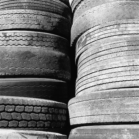 Close of a stack of discarded worn old automobile tyres, near Wendover in Utah. Stock Photo - Premium Royalty-Free, Code: 6118-07203237