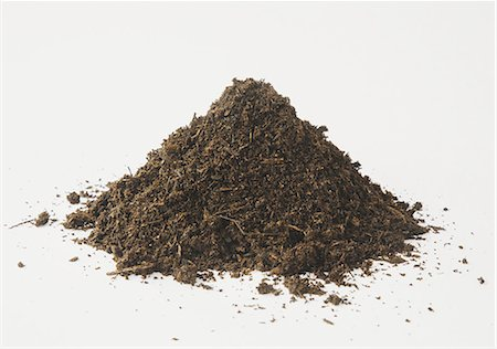 dirt - A pile of organic compost on a white background. Stock Photo - Premium Royalty-Free, Code: 6118-07353041