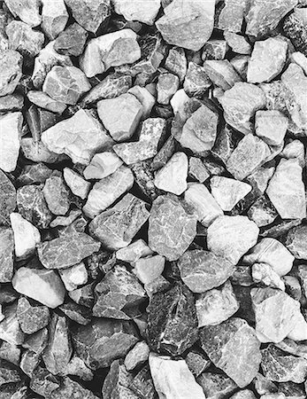 Rock pile used for construction, in King county, Washington, in the USA. Stones and rubble. Stock Photo - Premium Royalty-Free, Code: 6118-07440844